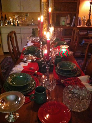 christmas table spread